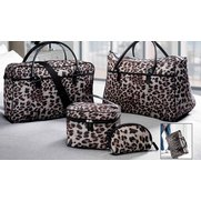 4-Piece Leopard Print Luggage Set