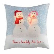 Snow Couple Light-Up Filled Cushion