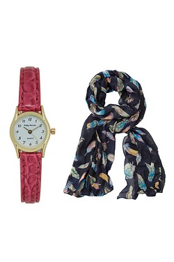Ladies Watch & Scarf Set