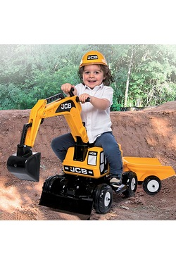JCB Excavator Ride-On and Trailer w...