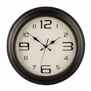 Matt Black Wall Clock