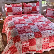 Scandi Patchwork Bedspread With 2 F...