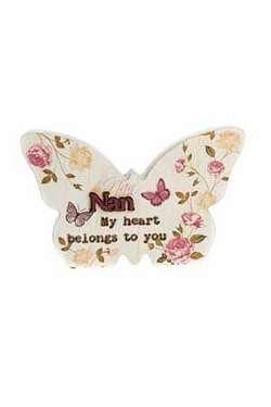 Butterfly Plaque - Nan