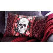 Rose Skull Boudoir Cushion
