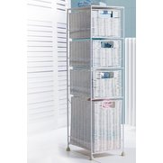 4 Drawer Rattan-Effect Unit