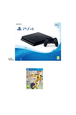 PS4 Slim 500GB Console With Fifa 17