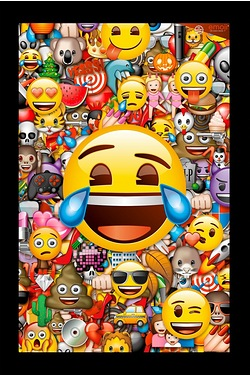 Emoji Collage Framed Poster