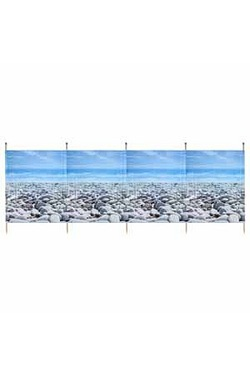 Pebble 5 Pole Printed Windbreak