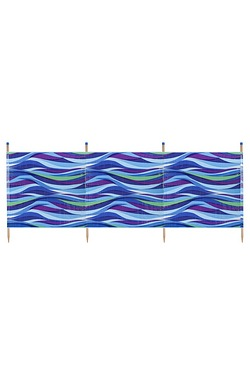 Wave 4 Pole Standard Printed Windbreak