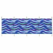 Wave 5 Pole Printed Windbreak