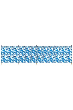Hibiscus 4 Pole Standard Printed Wi...