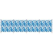 Hibiscus 5 Pole Printed Windbreak