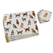 Set Of 4 Cats Placemats With FREE C...