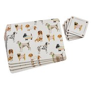 Set Of 4 Dogs Placemats With FREE C...