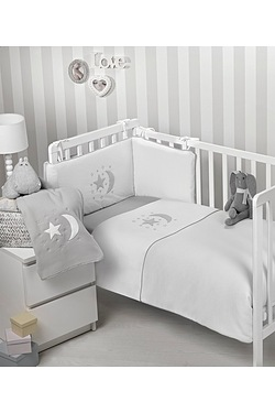Moon and Stars 3-Piece Cot/Cot Bed ...