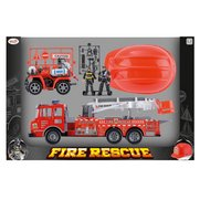 Fire Rescue Friction Truck Set