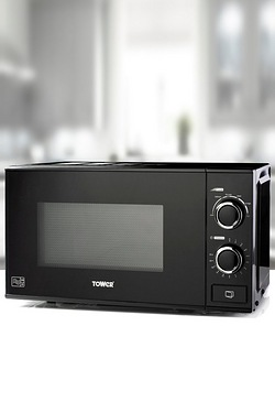 Tower 20L Black Microwave