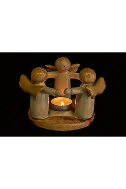 Circle Of Angels Tea Light Holder