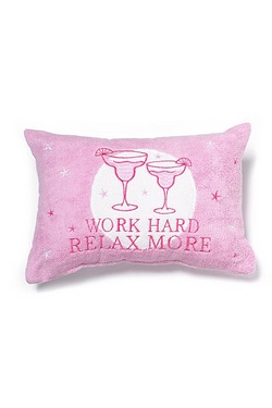 Work Hard Relax More Bath Pillow