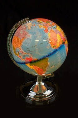 World Globe 4 Way Touch Lamp