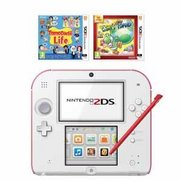 Nintendo 2DS White/Red + Tomodachi ...