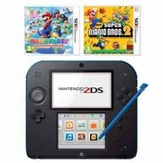 Nintendo 2DS Black/Blue + New Super...