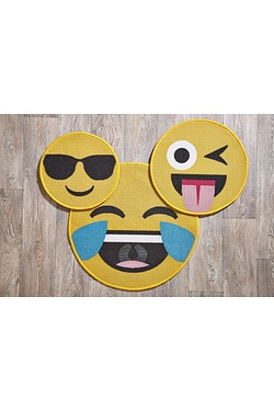 Set Of 3 Emoticon Rugs
