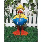 Solar Duck Umbrella Bird Bath
