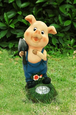 Happy Pig Solar Light