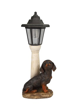Solar Dauchund Post Light