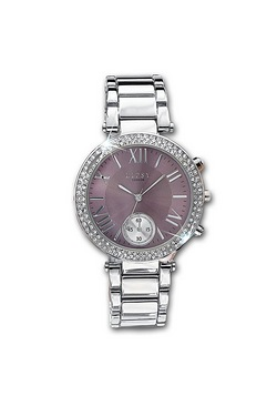 Lipsy Silver Watch Mauve Dial