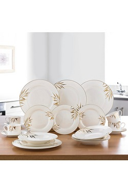 20-Piece New Bone China Gold Leaf D...