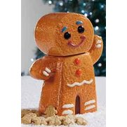 Ceramic Gingerbread Man With Biscuits