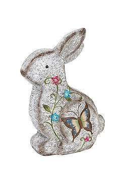 Stone Effect Rabbit Ornament