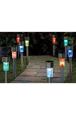 Pack Of 10 Colour Changing Solar Li...