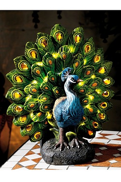 Pretty Peacock Solar Light