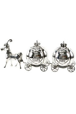 Silverplated Horse and Carriage Too...