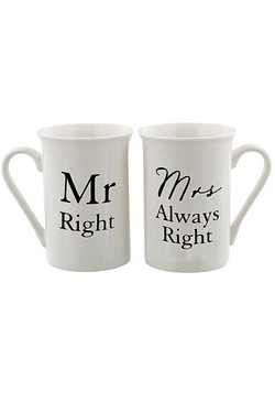 Mr Right & Mrs Always Right Mugs Set