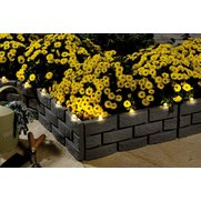 Pack Of 4 Solar Brick Border Edging