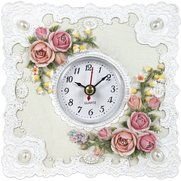 Roses And Lace Table Clock