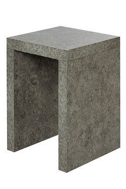 Stone-Effect Side Table