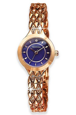 Ladies Sekonda Rose Gold Plated Watch