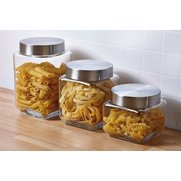 Set Of 3 Glass Storage Jars