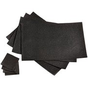 Set Of 4 Gold Glitter Placemats Wit...