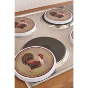 Set Of 4 Cockerel Hob Covers