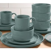 16-Piece Boston Stoneware Teal Dinn...
