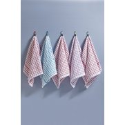 5 Pack Monocheck Tea Towels