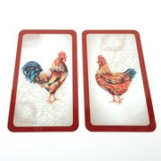 Set Of 2 Cockerel Cover Plates