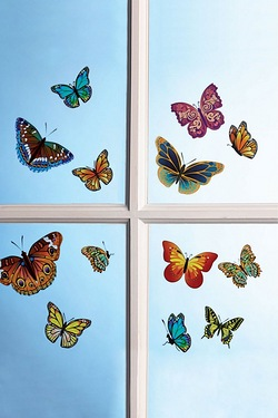 13-Piece Butterfly Decals