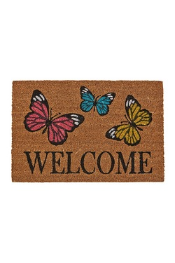 Butterfly Welcome Coir Doormat